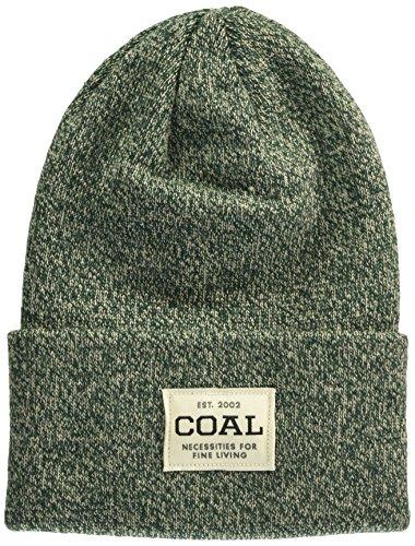 Coal Men's The Uniform Fine Knit Workwear Cuffed Beanie Hat, Hunter Green Marl, One Size