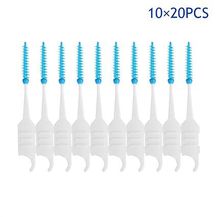starall 200 pcs cepillos interdentales plástico silicona desechables cepillo de dientes Dental Stick Oral Care Cepillo