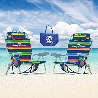 2 Tommy Bahama 2015 Backpack Cooler Chairs with Storage Pouch and Towel Bar- multicolor : Sports & Outdoors [5Bkhe1508312]