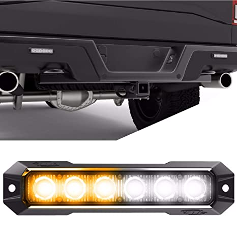 Led Strobe Lights For Trucks >> Speedtech Lights Z 6 Tir 18w Led Strobe Light For Police Cars Construction Trucks Service Vehicles Plows Emergency Vehicles Surface Mount Grille
