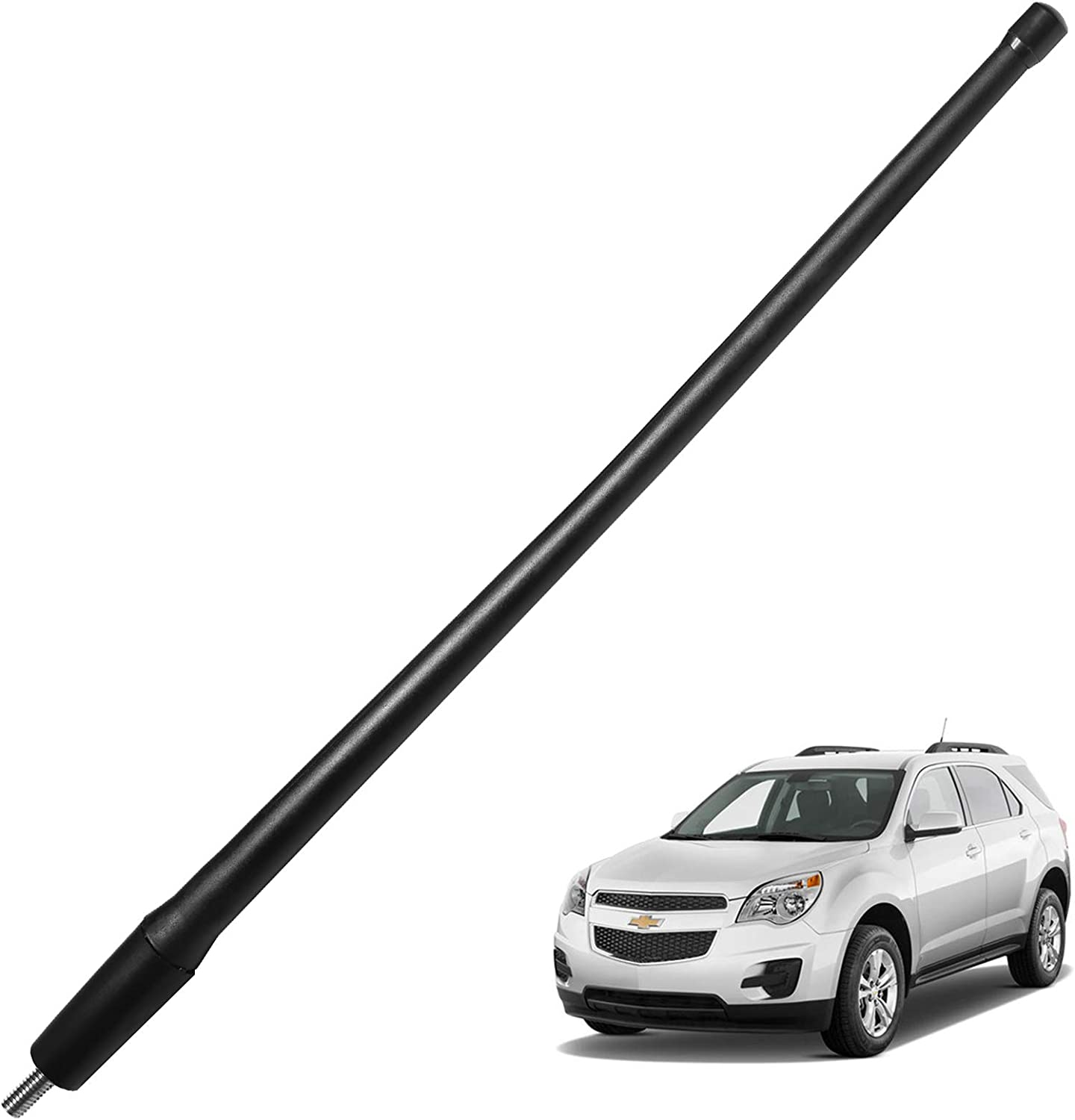 """13/"""" Black Stainless AM FM Antenna Mast FITS 2006-2010 Jeep Commander"""