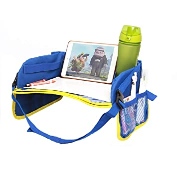 Childrens Car Seat Travel Tray Sturdy surfaces /& sidewalls train /& plane Use in cars Stick On-the-Go buggy Scribble The TRAYVEL 2.0 Snack Wipeable Surfaces /&Toy Organiser