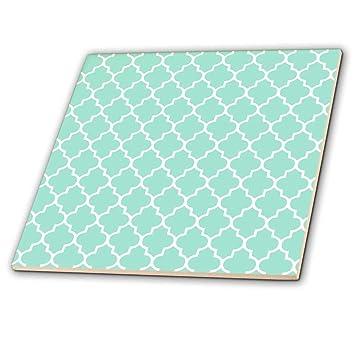 3drose Ct 120256 4 Mint Vierpass Muster Blaugrun Turkis
