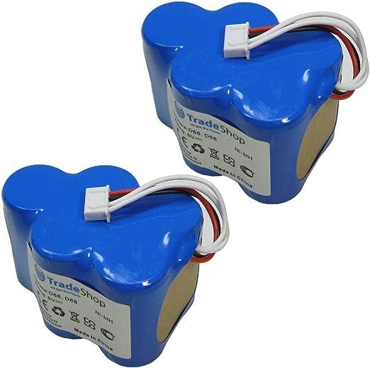 2 x Trade de Shop Premium Ni-MH batería, 6 V/4500 mAh/27 wh para
