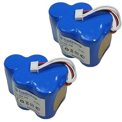 2 x Trade de Shop Premium Ni-MH batería, 6 V/4500 mAh/27 wh para Ecovacs Deebot ...