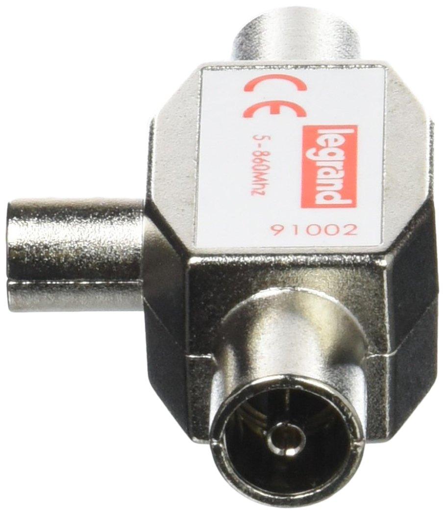 Legrand LEG91002 Distributore TV 1 entrata maschio 2 uscite femmina /ø 9,52 mm