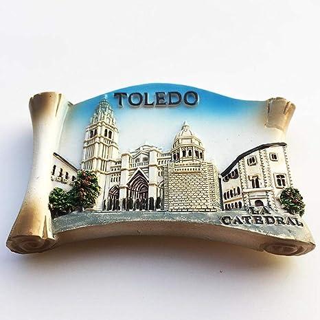 MUYU Magnet Imán para Nevera, diseño de la Catedral de Toledo: Amazon.es: Hogar