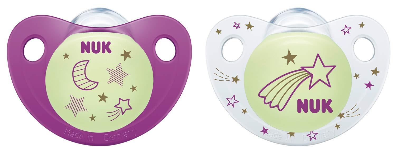 Nuk Night&Day - Chupetes con tetina de silicona para niña, talla 1 ...