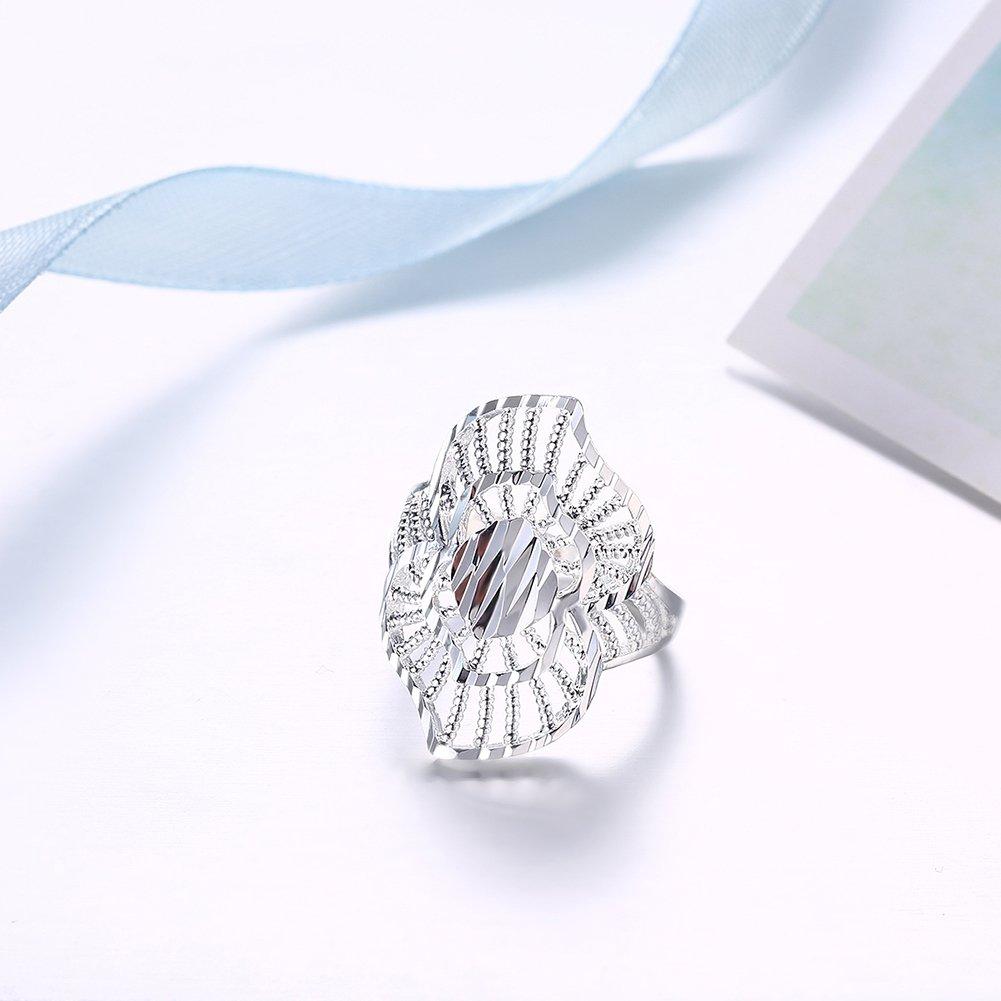 de moda para hombres y mujeres anillo de regalo de boda Anillo de compromiso elegante elegante de plata