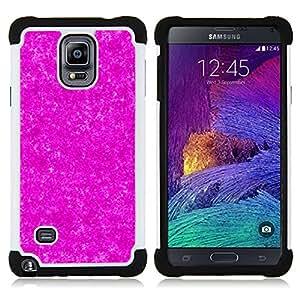 - purple universe pattern stars pattern/ H??brido 3in1 Deluxe Impreso duro Soft Alto Impacto caja de la armadura Defender - SHIMIN CAO - For Samsung Galaxy Note 4 SM-N910 N910