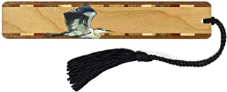 product image for Personalized Great Blue Heron, Colorful (Double Sided) Wooden Bookmark with Tassel