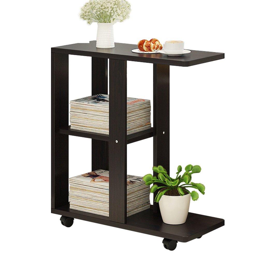 ナイトテーブル ソファー小さなコーヒーテーブルリムーバブルベッドサイドテーブルリビングルームソファサイドキャビネットサイドテーブル (色 : J-Black walnut) B07FBFL17N J-Black walnut J-Black walnut