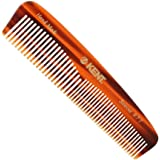 Kent The Handmade Comb - 143 mm Fine and Coarse Toothed Pocket Comb Sawcut R7T by Kent [Beauty]