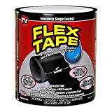"Dlife Flex Tape Black 4"" x 5'"