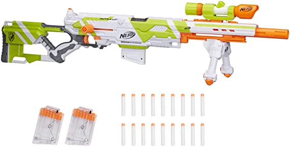 Longstrike Nerf Modulus Toy Blaster with Barrel Extension