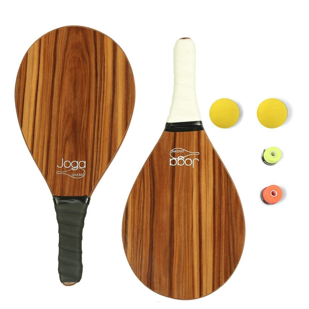 Amazon.com: 2 madera frescobol o playa Padel Raqueta Set ...