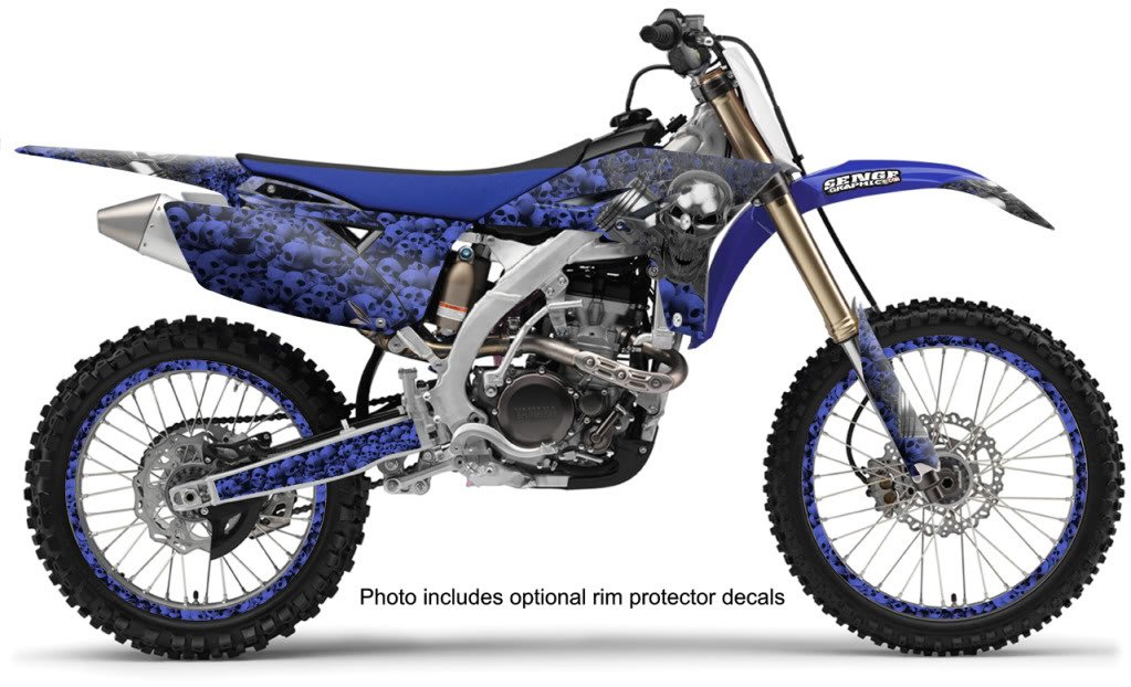 4-Stroke 1998-2002 YZ 250F//400F//426F Senge Graphics Flaming Gearhead Complete kit Compatible with Yamaha