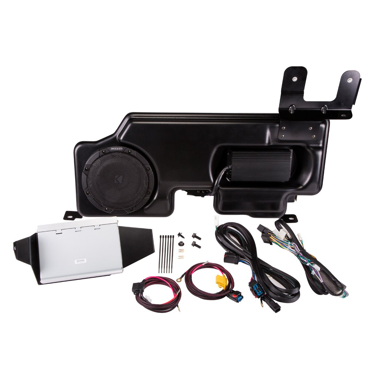 Kicker PF150SC15 PowerStage Amp & Powered Sub Upgrade for 2015 Ford F-150 Super Cab/Crew w/ MyFord Radio by Kicker