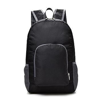 Sannysis Mochila impermeable con cremallera y bandolera Color sólido neutro Mochila de viaje ligero bolso bandolera mujer ajustables Shoulder Bag Backpack ...