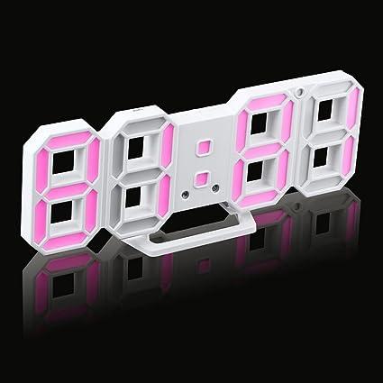 Amazon.com: Reloj de pared digital LED, Transer visión ...