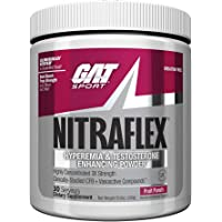 GAT - NITRAFLEX - Testosterone Enhancing Powder, Increases Blood Flow, Boosts Strength and Energy, Improves Exercise Performance, Creatine-Free (Fruit Punch, 30 Servings)