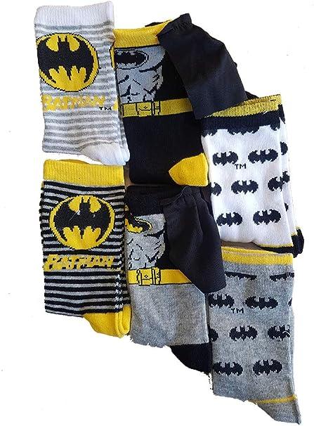 Disney Socks and Underwear - Medias de fútbol - para niño Pack de 6 Paires de Chaussettes Batman 23/26: Amazon.es: Ropa y accesorios