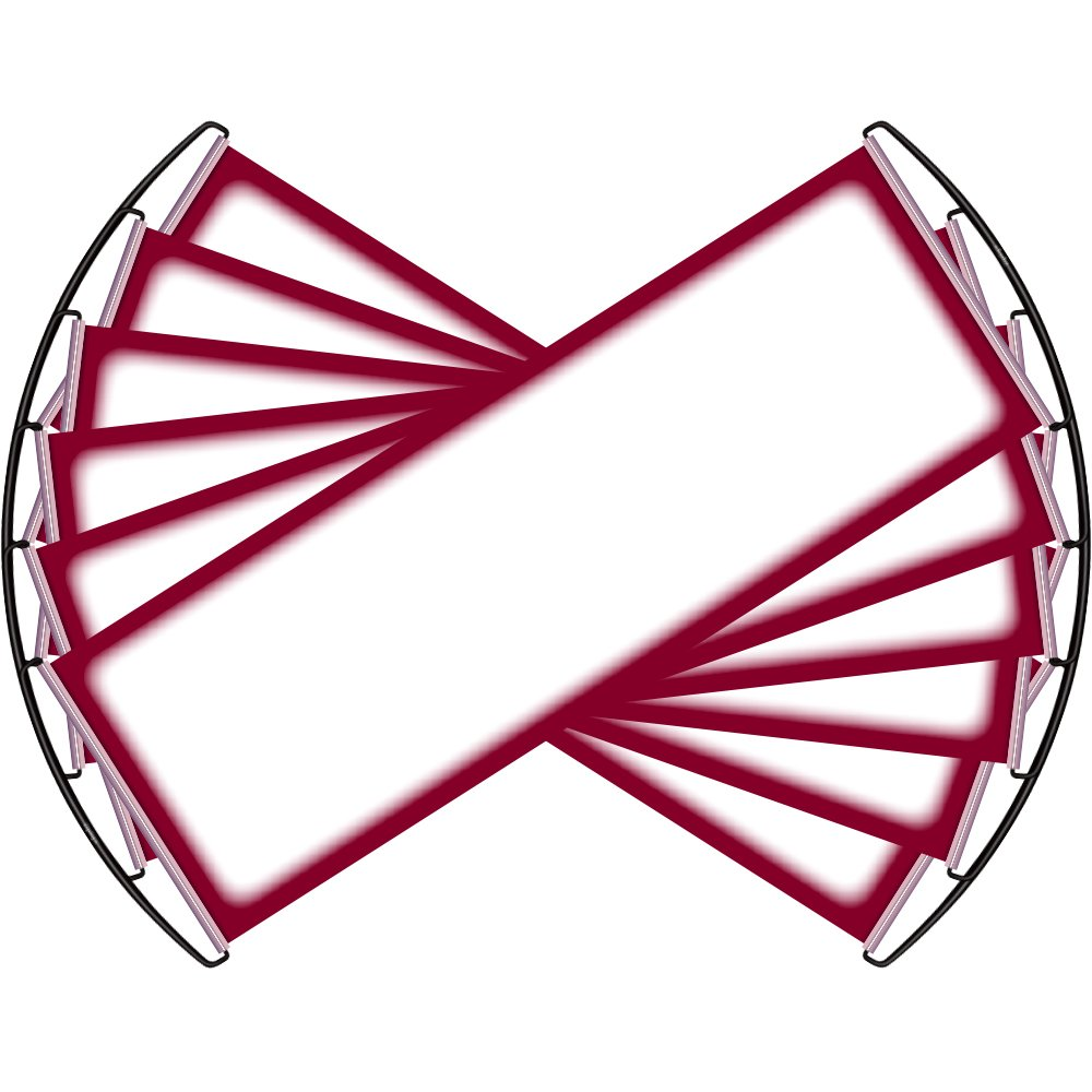 ZipSign Dark Red 6 Pack Dry Erase Banner - Rolls Itself Up, Unrolls to 9.5'' x 27'', Reusable, Portable, Fits in Your Pocket - Great for Sports, Concerts, Cheer by ZipSign
