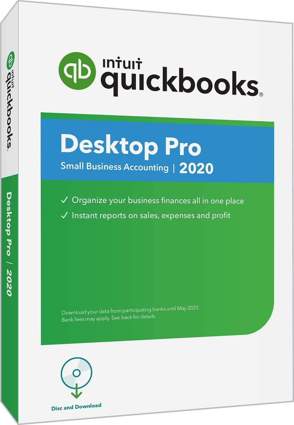 QuickBooks DesktopPro 2020Accounting Software for Small Business with Amazon Exclusive Shortcut Guide [PC Disc]