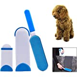 HurricanePet Fur & Lint Remover ,for pet hair and clothes lint, reusable, double-sided with self-cleaning base and travel size brush