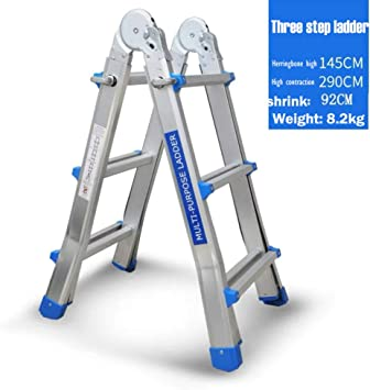 STEP STOOL una Escalera Escalera de Dos Heces Taburete de Bar Escalera Pequeña Mini Tramo Aluminio Bilateral Escalera Escaleras de Incendi: Amazon.es: Bricolaje y herramientas