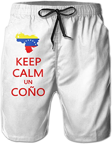 Keep Calm and Swim On Mens Casual Shorts Pants