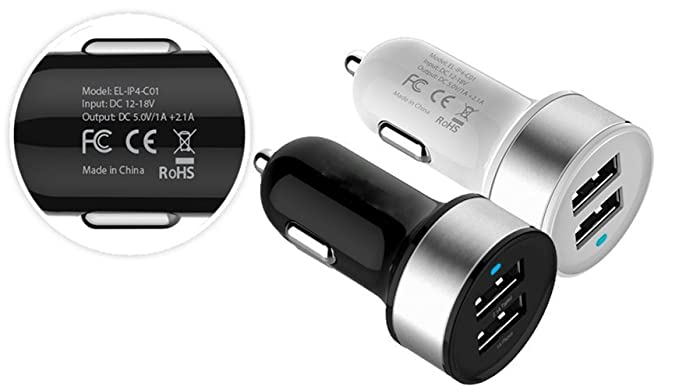 3.1A Dual USB Car Charger for iPad Samsung Galaxy S3 15.5W iPhone 5// 5S S4