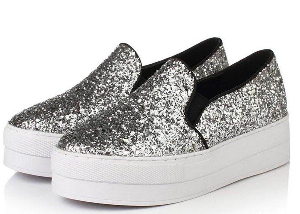 YTTY L'Épaisseur du Fond De Paillettes De Chaussures De Loisirs Love