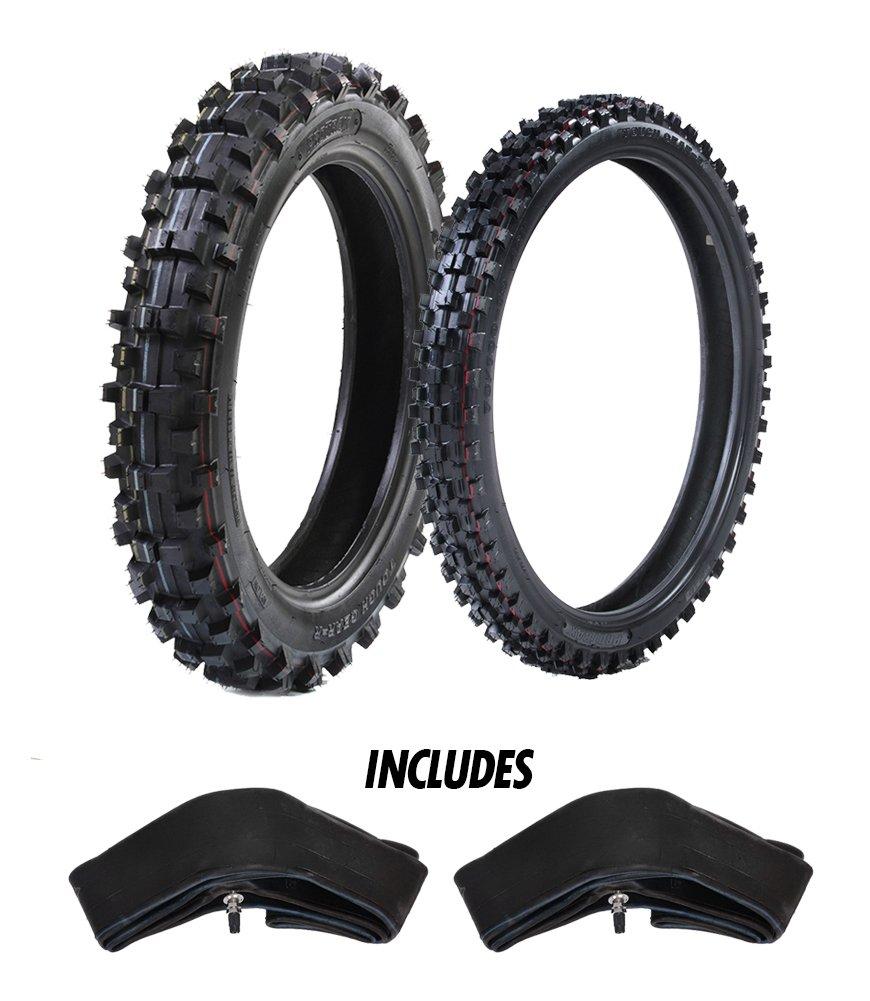 ProTrax Motocross Combo Kit-Front 19''& Rear 16'' Tire & Tubes 2.25-2.50 x 19''/3.50 x 16'' - Soft/Intermediate Terrain