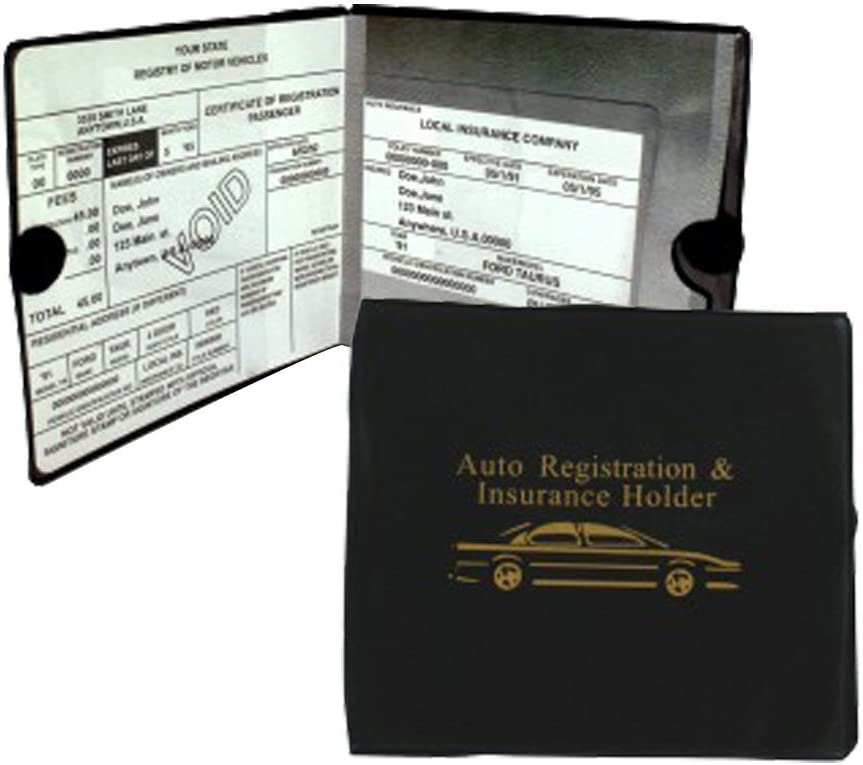 Sterling Auto Car INSURANCE Registration Holders 2 Pack Automobile, Trailer, Truck etc. A MUST to have! Velcro Closure. 2 Pieces.Perfect for organizing glove compartment