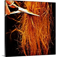 "Gallery-Wrapped Canvas entitled Cutting long red messy hair by Great BIG Canvas 35""x35"""