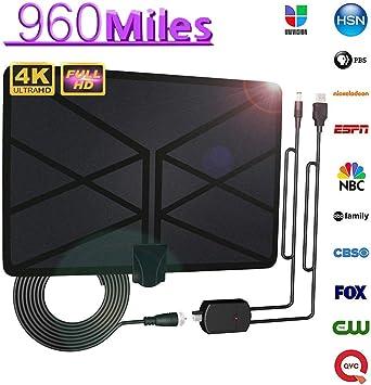 Alivier Antena de TV de Interior Antena de HDTV Digital 4K 1080P HD y Cable coaxial de 16.5 pies para Canales Locales Compatible con Todos los televisores: Amazon.es: Electrónica