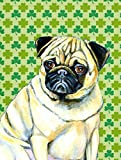 Caroline's Treasures LH9207CHF Pug St. Patrick's Day Shamrock Portrait Flag Canvas, Large, Multicolor Review