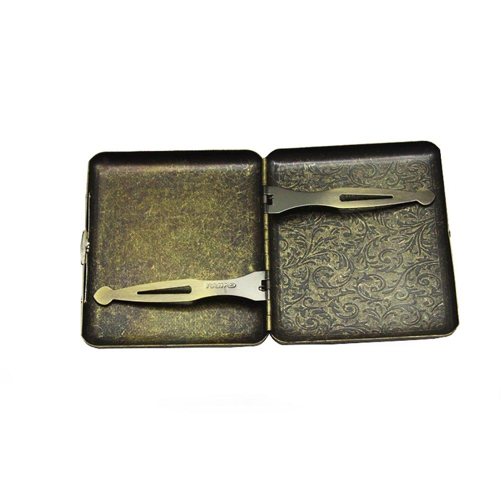 Metall Zigarettenetui Herren Damen Retro Tasche Box H/ält 20 Zigaretten Case Klassisch Design Dawnzen/®