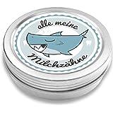 DOCTORS Milchzahndose   Haifisch Henri   für Mädchen und Jungen   Geschenk zur Einschulung, Taufe oder Geburt   Dose für Wackelzahn