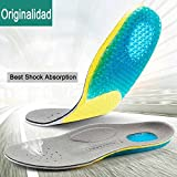 Orthotic Insole with Arch Support - Best Shock Absorption & Cushioning Insoles for Plantar Fasciitis, Running, Flat Feet, Heel Spurs & Foot Pain - for Men & Women