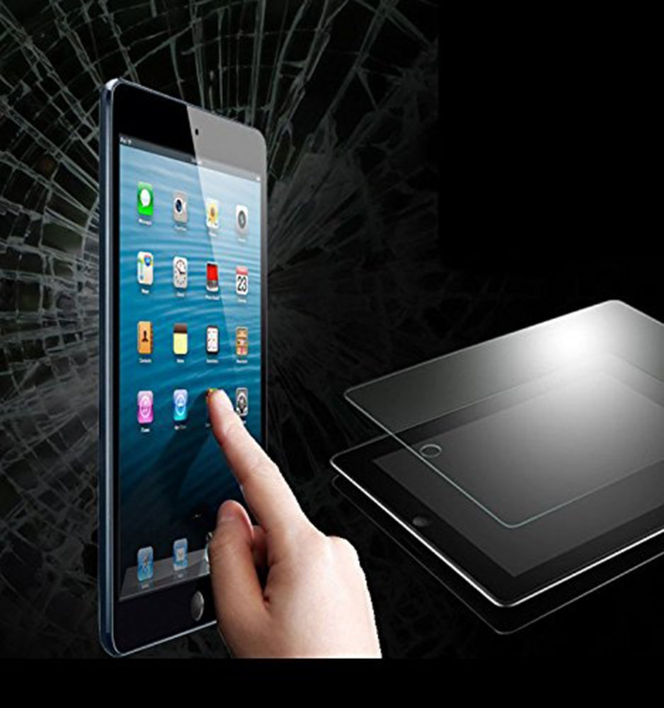 ipad Screen Protector Glass ixaer Toughened Glass Screen Film Protector 9H Rigidity and 0.30mm thickness for iPad2/3/4 ipad air Membrane Protective (Tempered Glass)