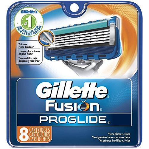 Gillette Fusion ProGlide Manual Men's Razor Blade Refills, 8 Count
