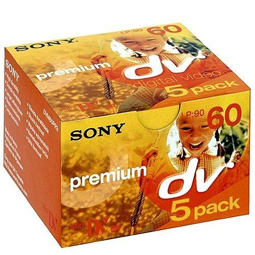 Sony DVM-60PR3 Premium Mini DV Videocassette 5 Pack by Sony