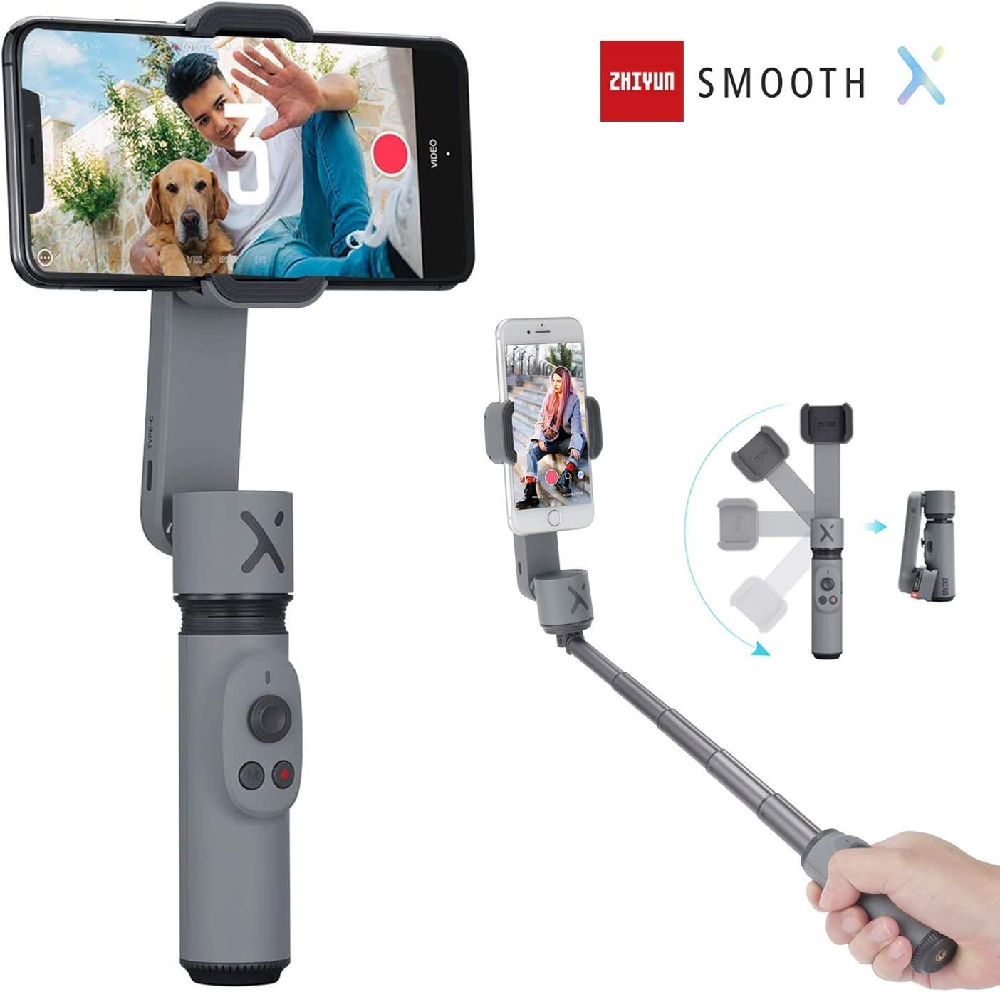 Amazon.com: Zhiyun Smooth X 2-Axis Gimbal Stabilizer for iPhone 11 ...