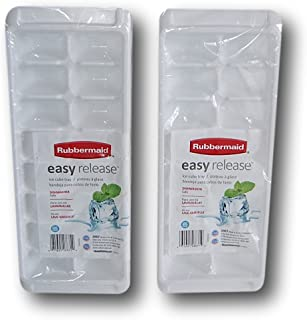 product image for Rubbermaid White Easy Release Ice Cube Tray Set of 2, 12.5'' x 5'