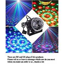 StartLet Mini RGB LED Crystal Magic Ball Stage Effect Lighting Lamp Bulb Party Disco Club DJ Light Show Lumiere
