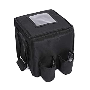 GULUNONG Insulated Food Delivery Bag with 4 Cup Holders 11
