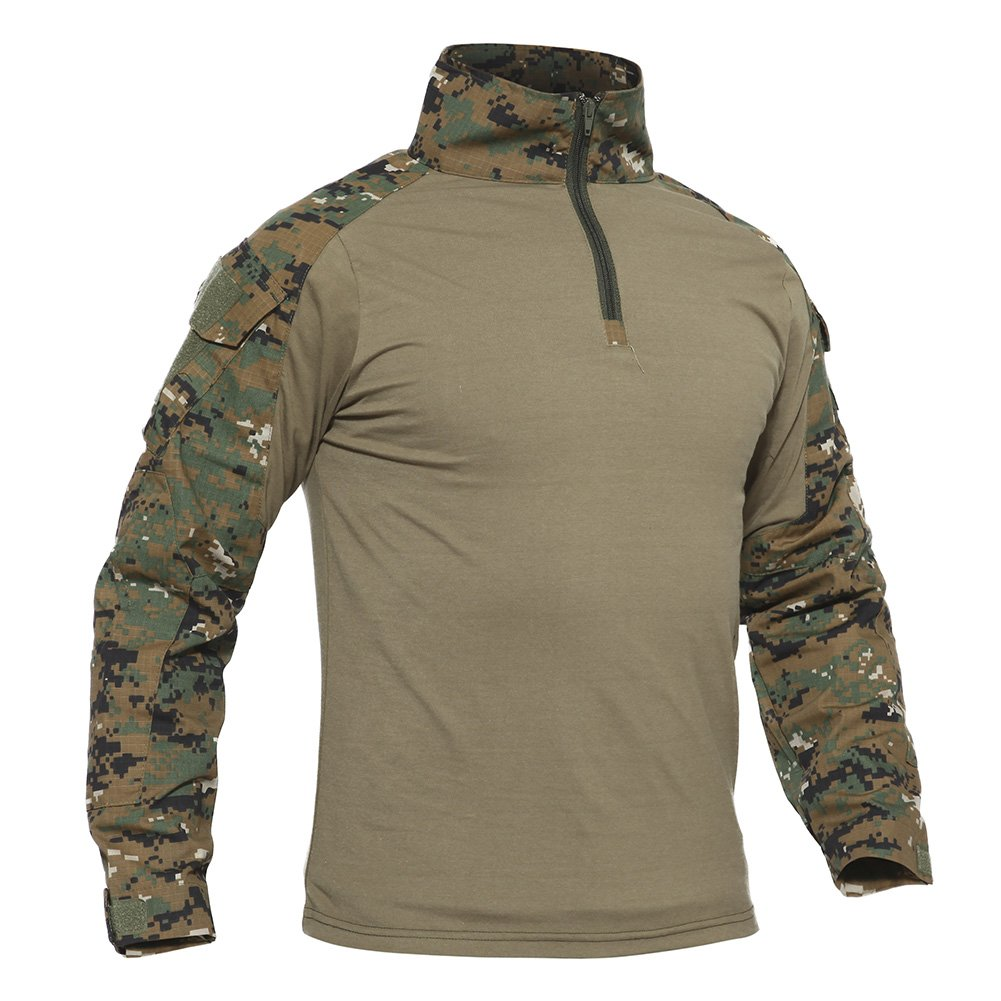 TACVASEN Mens Camouflage Camo Active Military Long Sleeve T-Shirt Tops Jungle,US M/Tag XL by TACVASEN