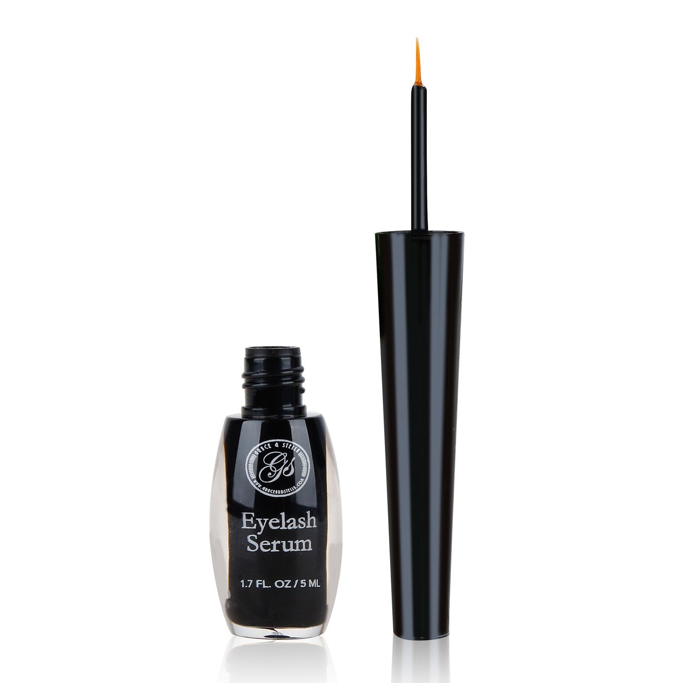 *NEW* Advanced Eyelash Growth Serum - Powerful Eye Lashes Booster Enhancer (5ml / 1.7oz) - Made with Natural Herbs Ingredients for Rapid Enhancing Fuller, Longer & Thicker Eyelashes Prevent Breakage Full Eyebrow Regrowth Treatment . 100% Natural &